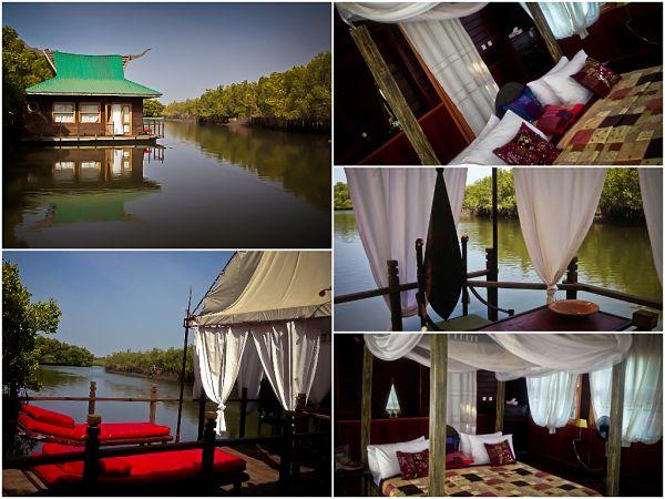 Gambia, Mandina Floating Lodge