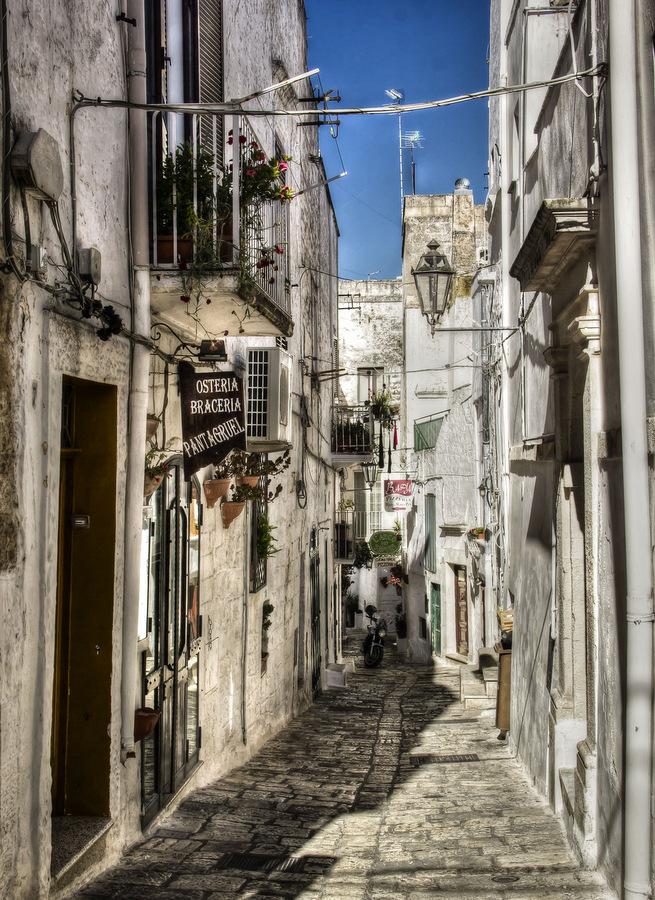 Ostuni Old Cobblestone Streets