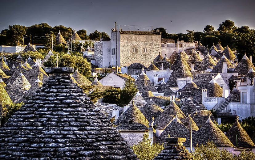 Alberobello-Trulli-at-Sunset