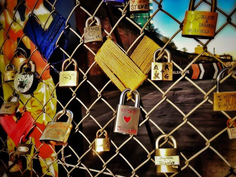 London, Love Locks in Shoreditch