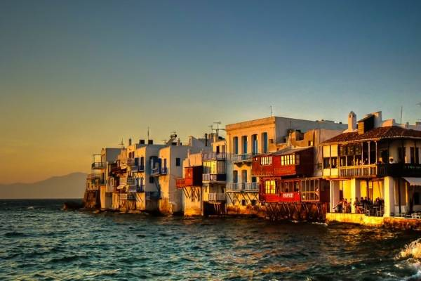 Mykonos, Little Venice at Sunset
