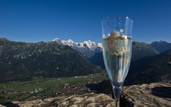 Aperitif Overlooking the Jungfrau