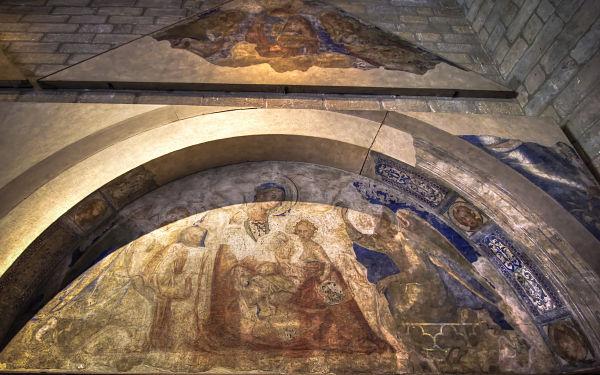 Avignon Palais des Papes Wall Painting