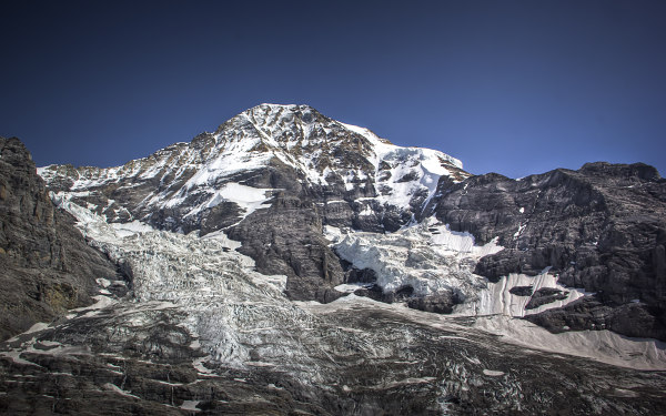 Jungfraujoch, View on the Glaciers