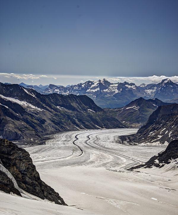 Jungfraujoch, Aletsch Glacier Moraine