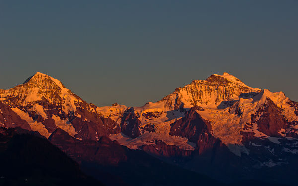 Jungfrau at Sunset