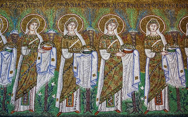 Ravenna Mosaics S. Apollinare Nuovo, Holy Virgins Procession