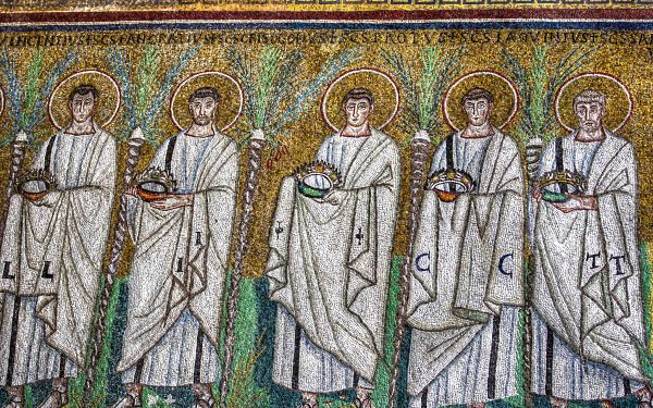 Ravenna Mosaics S. Apollinare Nuovo, Procession of the Martyrs