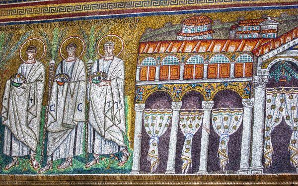 Ravenna Mosaics S. Apollinare Nuovo, The Palace of Theodoric