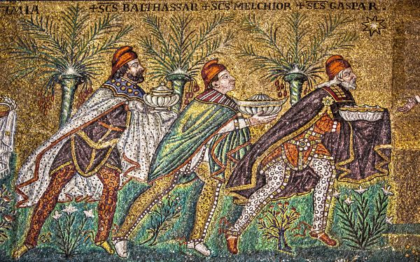 Ravenna Mosaics S. Apollinare Nuovo, The Three Kings