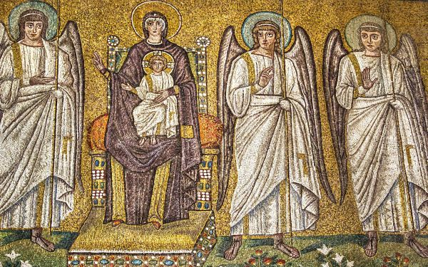 Ravenna Mosaics S. Apollinare Nuovo, Virgin and Child