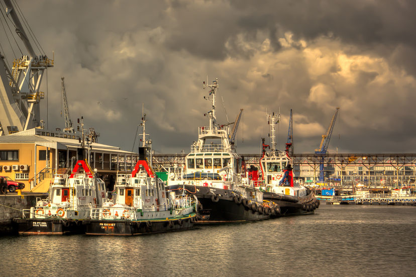 Clouds Over Cape Town Waterfront