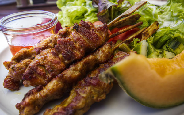 Grindelwald First Restaurant, Delicuous Satay