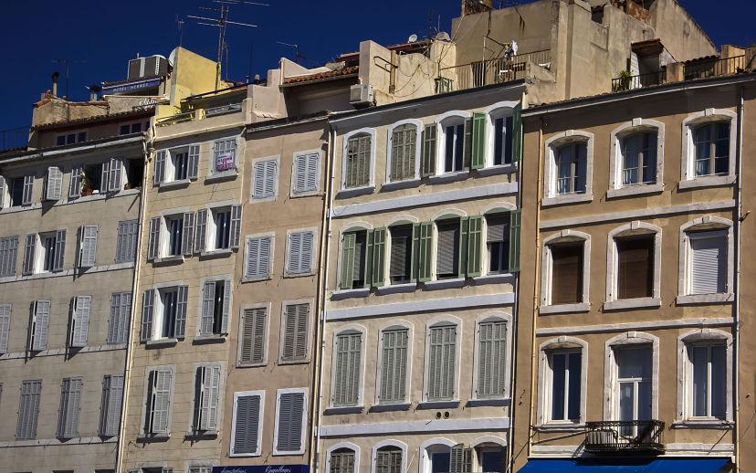 Marseille Vieux Port, Old Houses