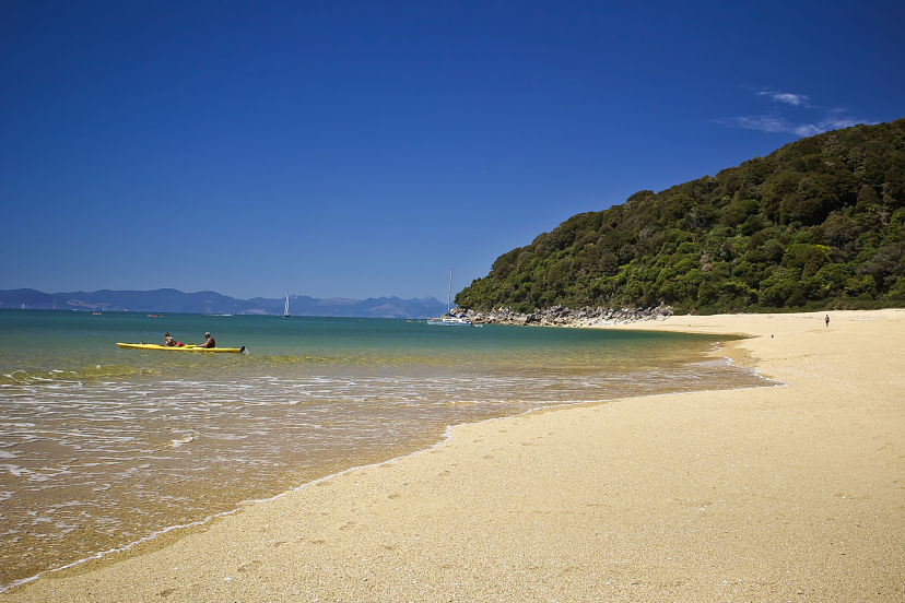 New Zealand, Beach at Abel Tasman NP