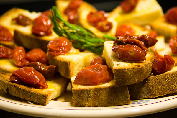 Bruschetta with Cherry Tomatoes