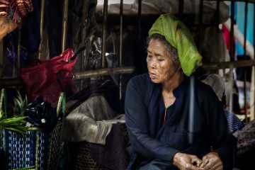 Old Burmese Woman at the Market