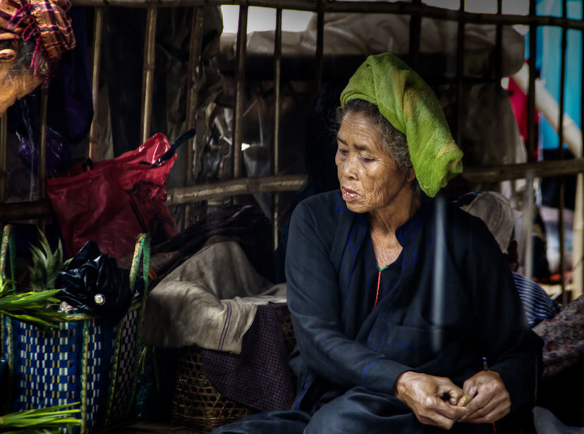 Old Burmese Woman at the Market