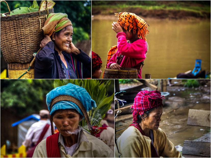 Burma People Collage