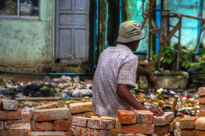 A Bricklayer in Yangon