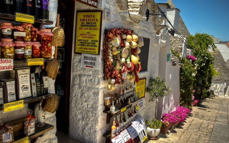 Alberobello, Typical Shops