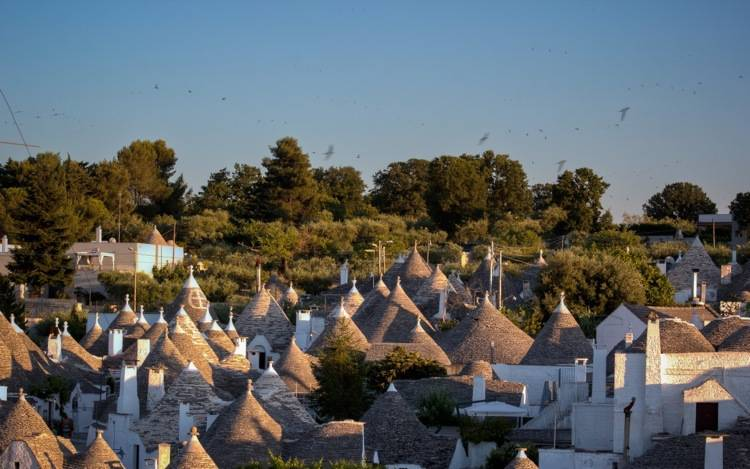 Alberobello, View at Sunset