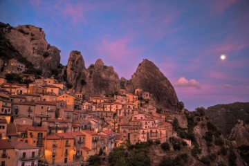 Castelmezzano at Sunset