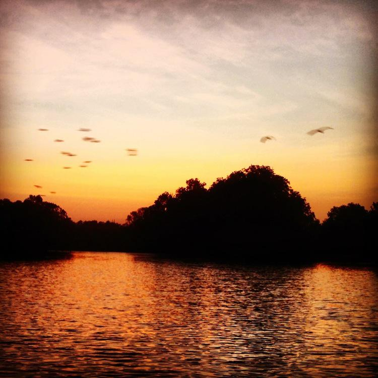 Gambia, Sunset on the River
