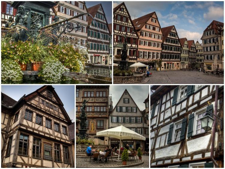 Tubingen Old Town, Collage