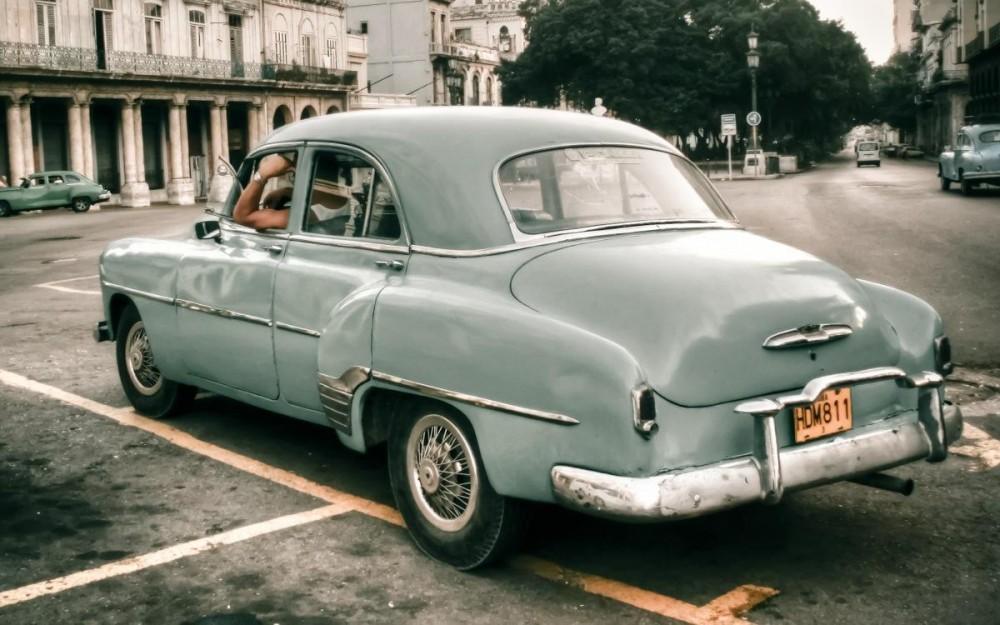 Cuba, Vintage Car in Havana