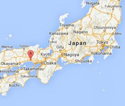 Himeji Castle And The Legend Of Princess Sen - Japan map legend