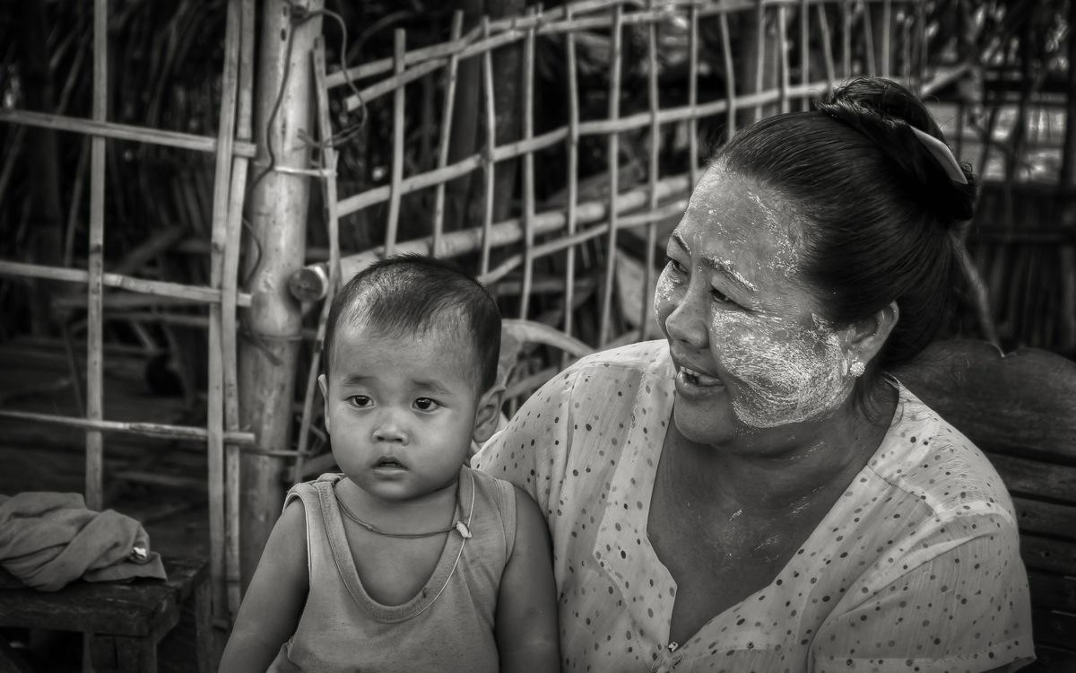 Burma Mother and Child