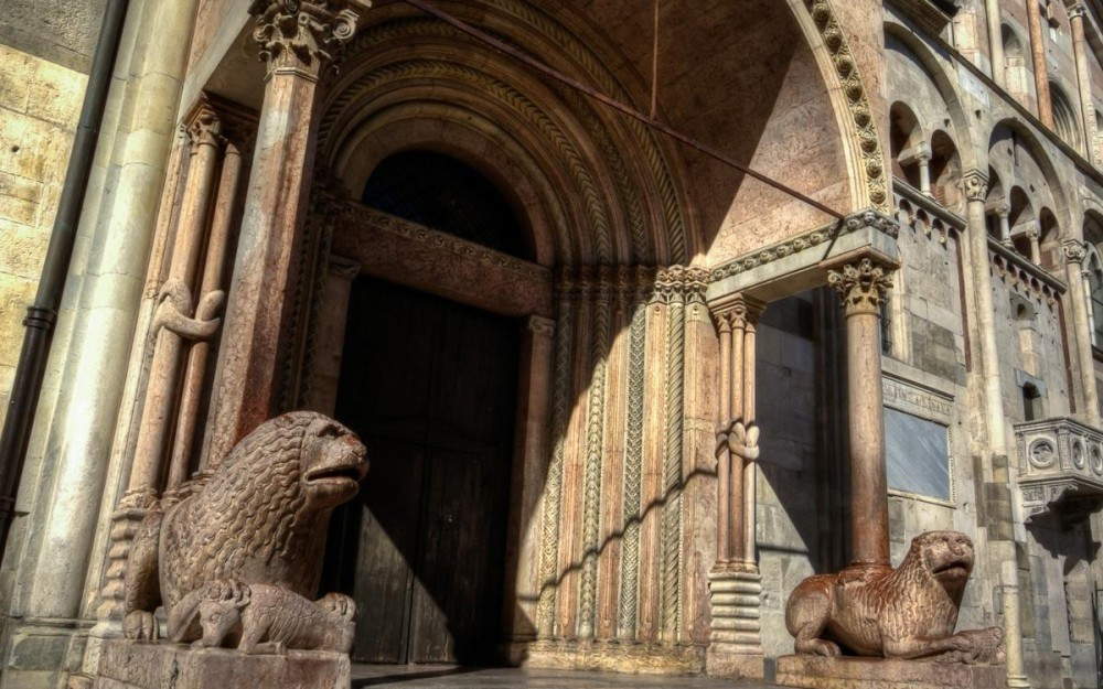 Sculptures of Lions, Modena Cathedral