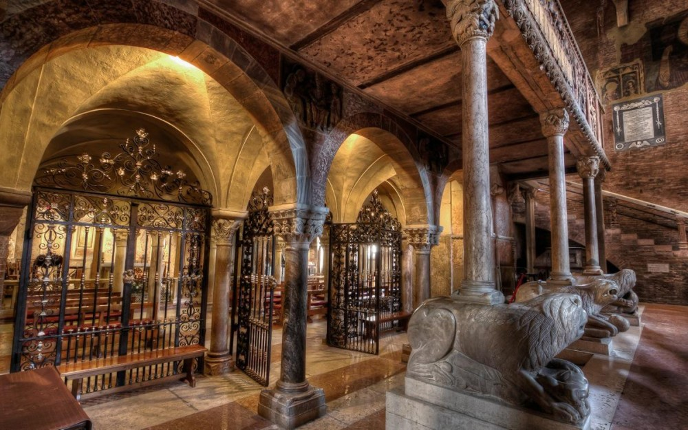 The Crypt of Modena's Cathedral