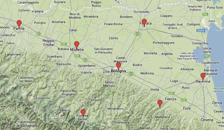 emilia-romagna map