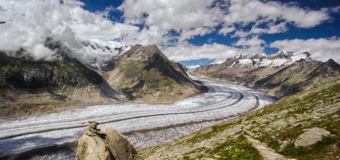 Aletsch Glacier From Belalp