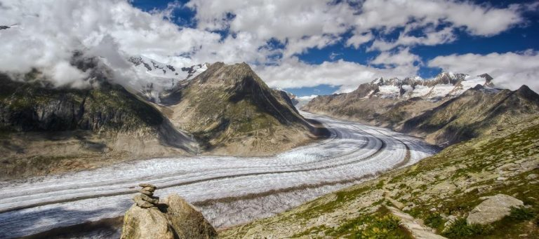 Aletsch Glacier From Belalp