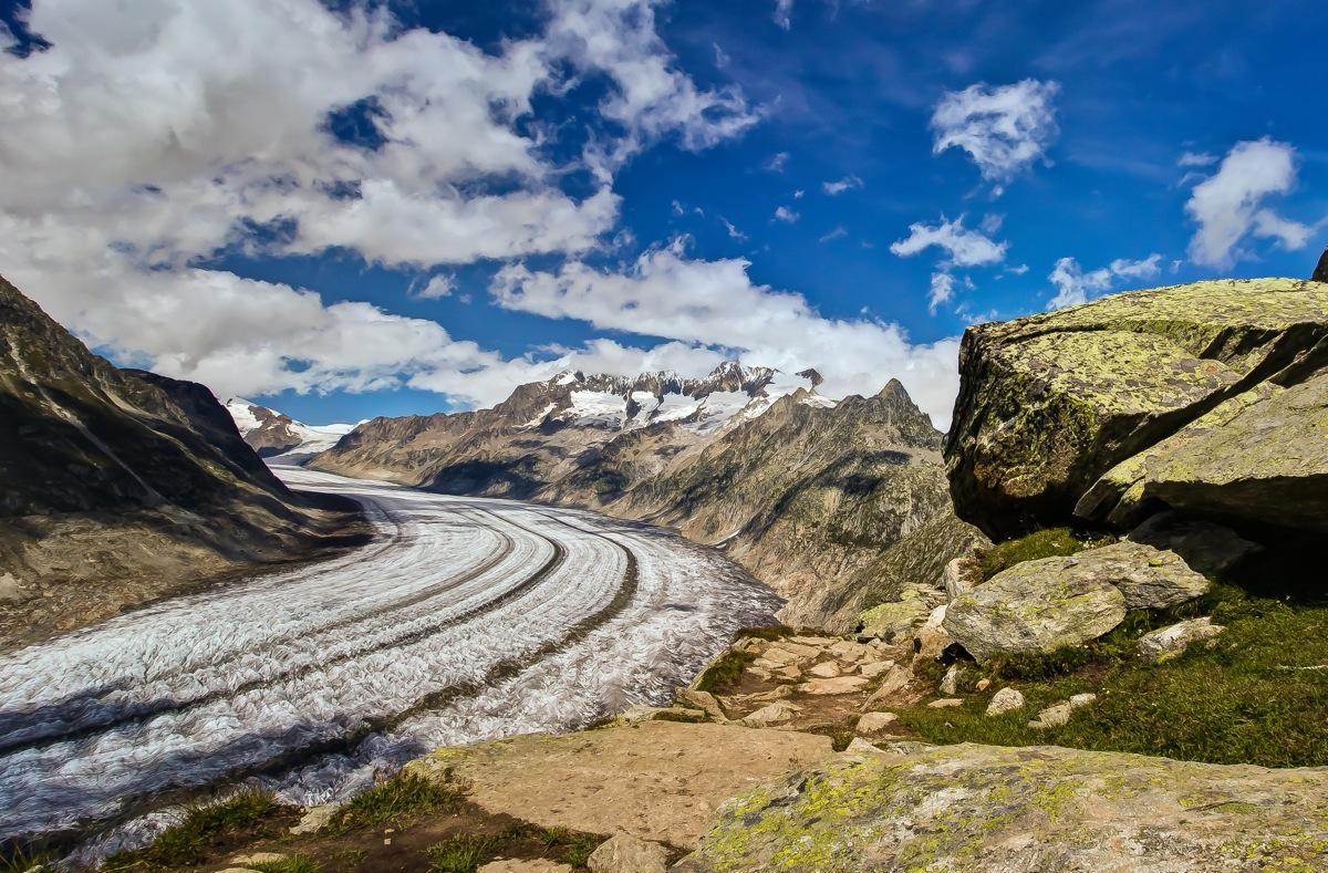 Switzerland, Aletsch Glacier