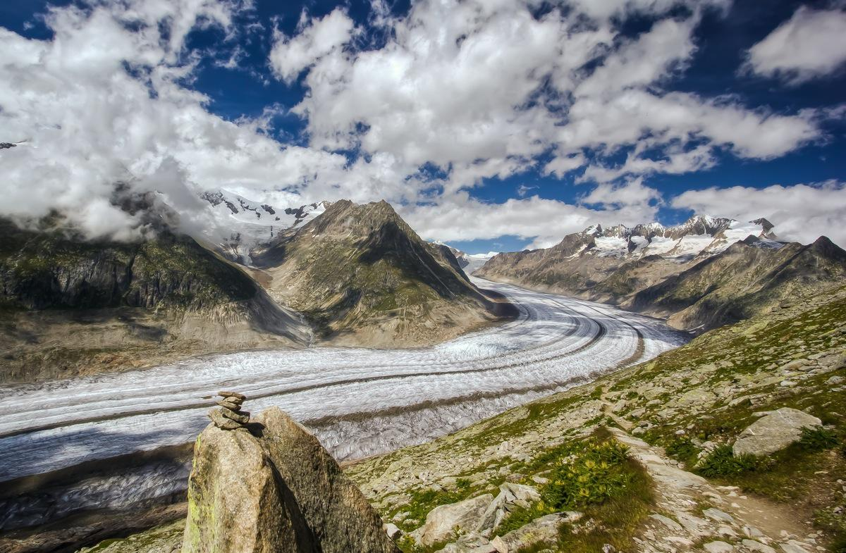 Switzerland, Aletsch Glacier, Belalp