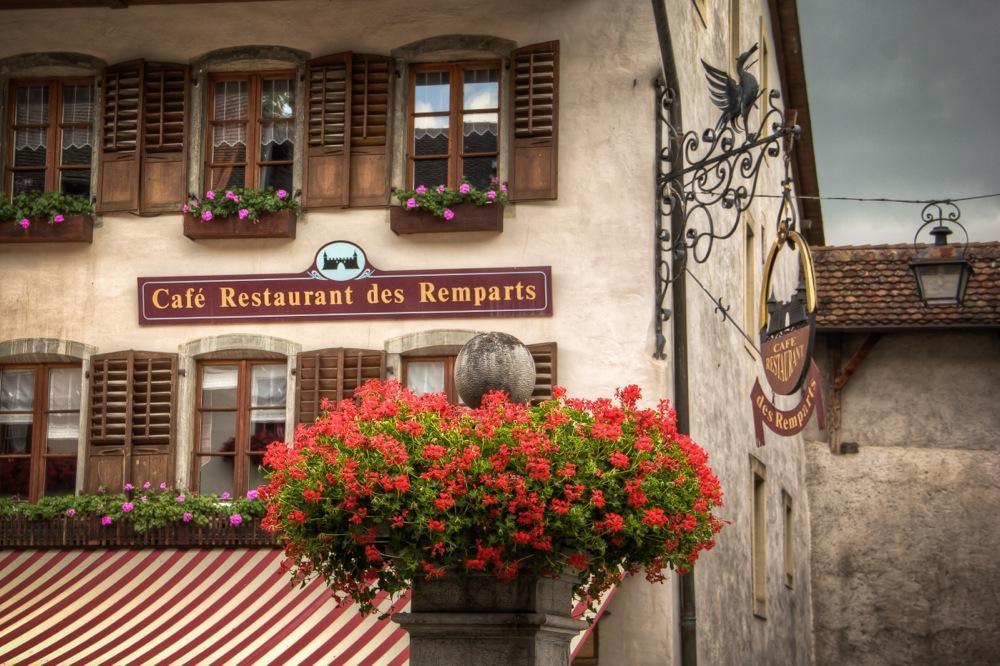 Gruyères, Switzerland, Café des Remparts