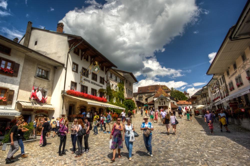 Gruyères, Switzerland, The Main Road