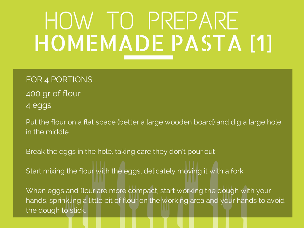 How to Prepare Homemade Pasta [Step 1]