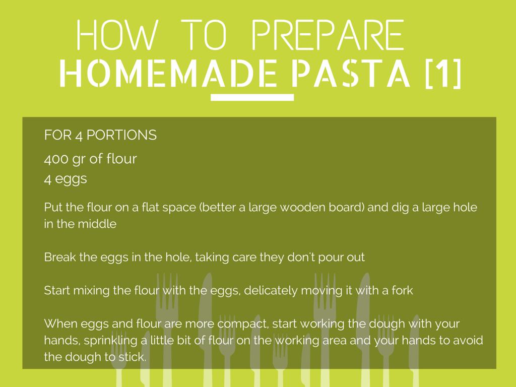 How to Prepare Homemade Pasta [Step 1]