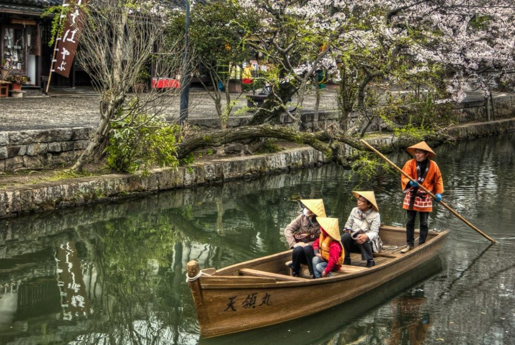 Japan, Boat in Kurashiki