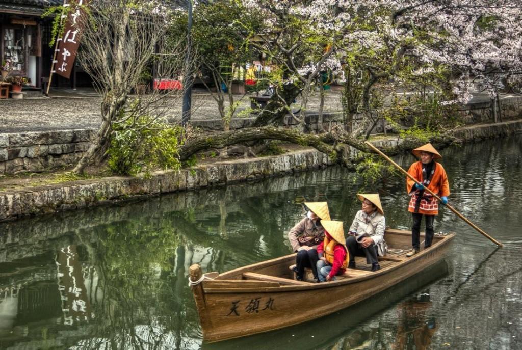 Japan, Boat in Kurashiki