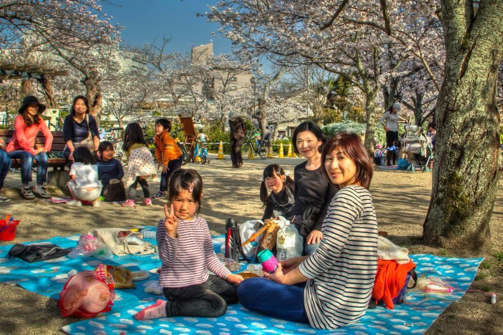 Japan, Picnic in Dogo Onsen