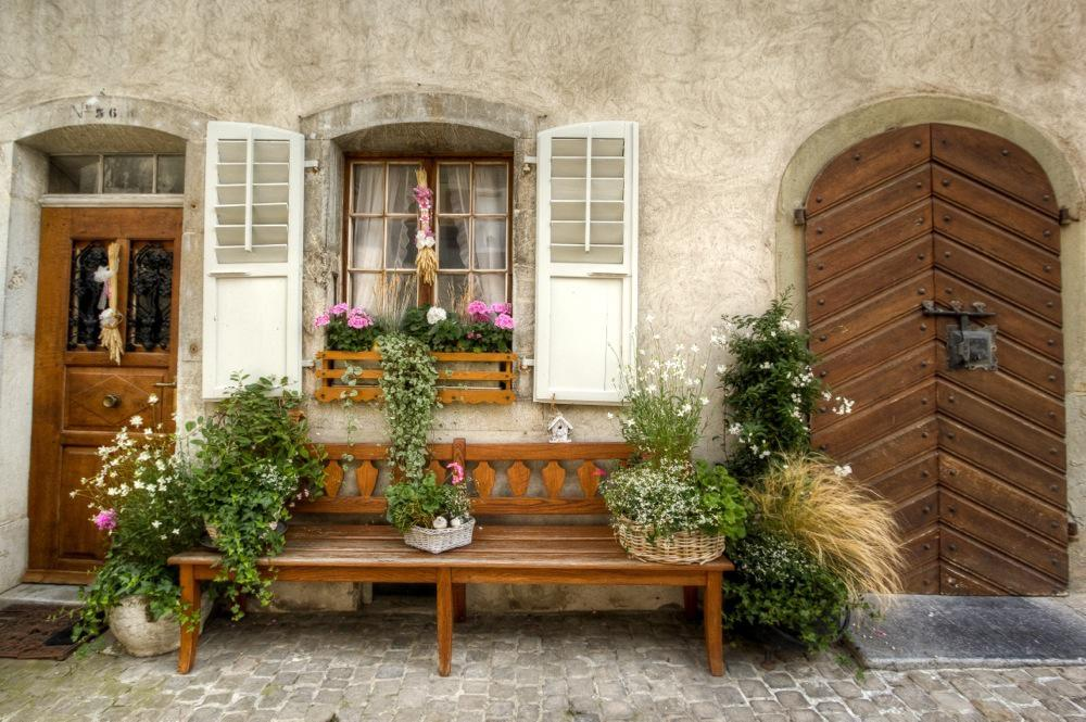 Decorative Bench in Gruyères