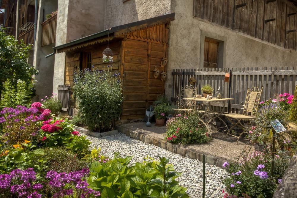 Switzerland, Gruyères, Lovely Garden