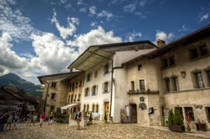 Switzerland, Gruyères Medieval Houses