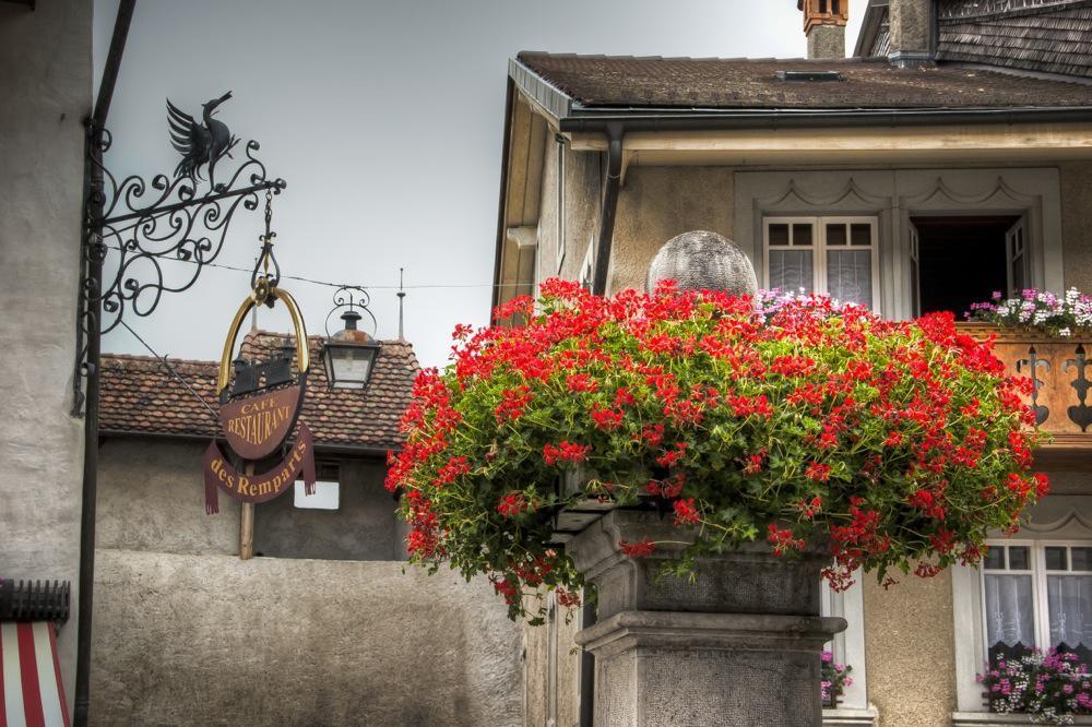 Switzerland, Gruyères, Old Sign